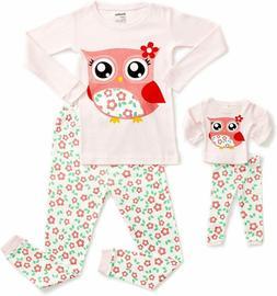 Dinodee Kids Pajamas Matching Doll  Girls Pajamas 2 Piece Pj