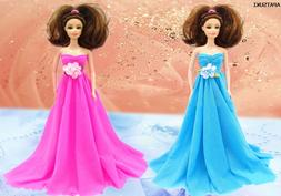 Kids Toy Doll Accessories Doll Clothes Wedding Dress Party D