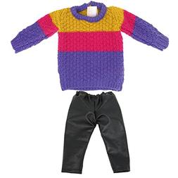 AOFUL Knit Sweater Top + Pants 16 -18 inch American Girl Dol