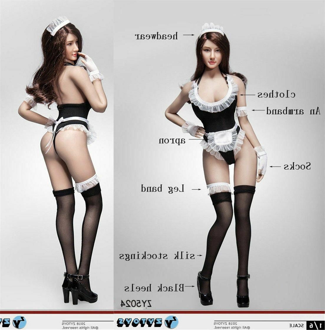 d7b5ba9f6da 1/6 Sexy Maid Lingerie Clothes Set For 12