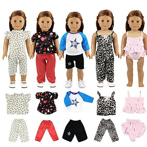 BARWA Doll Clothes Outfits and Dress Compatible 18