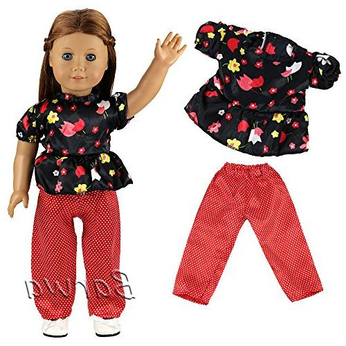 Clothes 5 Sets Clothes Outfits Dress Compatible with 18