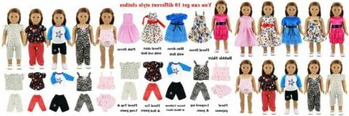 10 sets doll clothes 5 outfits