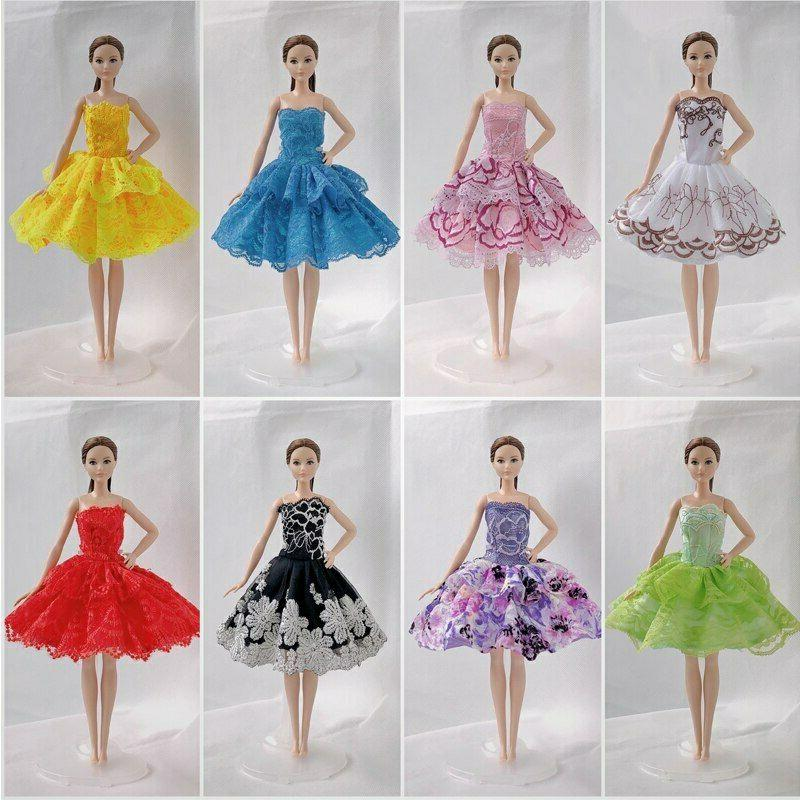 "10pcs/lot Random Dresses 11.5"" Doll Clothes Gown"