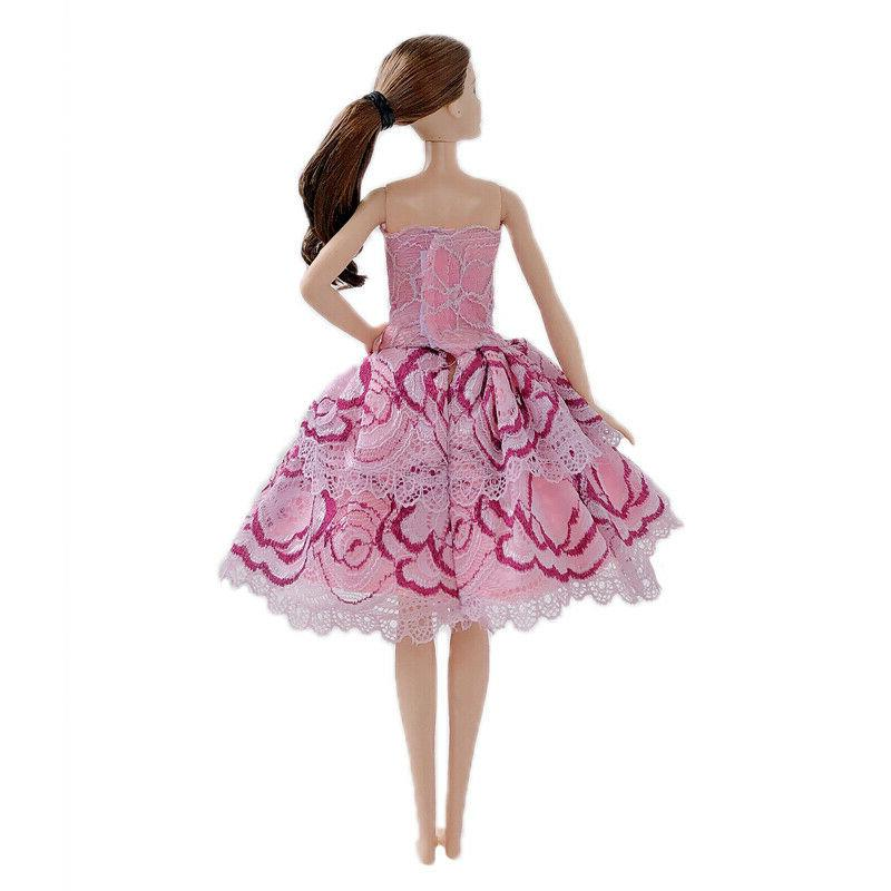 10pcs/lot Random Fashion Dresses Doll Clothes Gown Outfits