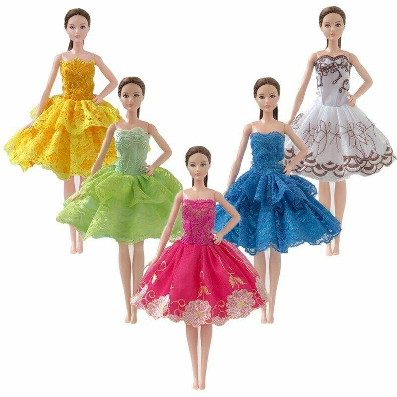 "10pcs/lot Random Fashion Dresses 11.5"" Clothes Gown"