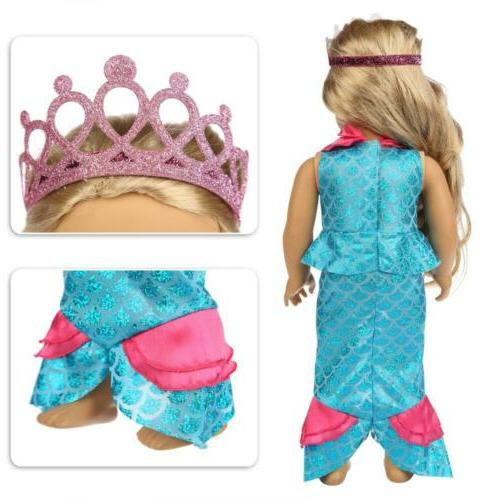 ZITA 11 Pcs Clothes American 18 Girl Doll Cosplay |...