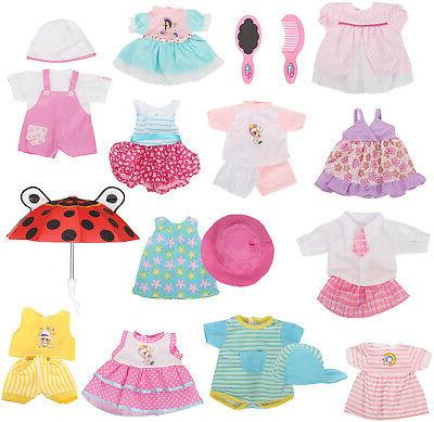 12 pcs set handmade baby doll clothes