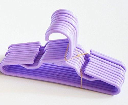 12 purple plastic doll hangers fits 18