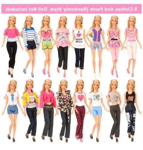 BARWA 16 Doll Clothes Accessories PCS Dresses Tops