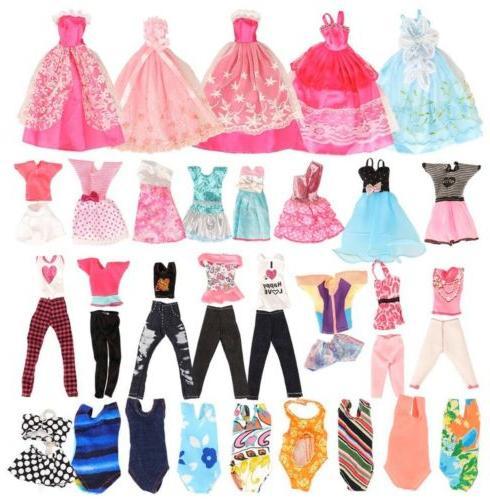 BARWA 16 Clothes and PCS Fashion Dresses Tops