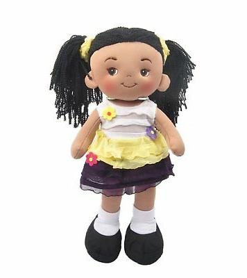 "Linzy Plush 16"" Yellow Aissa Doll Soft Rag"
