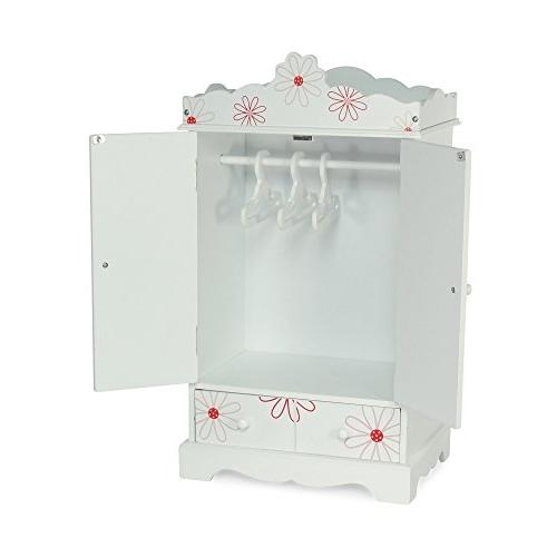 """18 Floral Design Clothes Storage with Hangers 