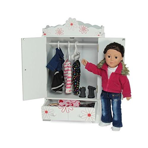 """18 Doll Floral Clothes with Hangers 18"""" American Girl Clothes - 18 Doll Clothes"""
