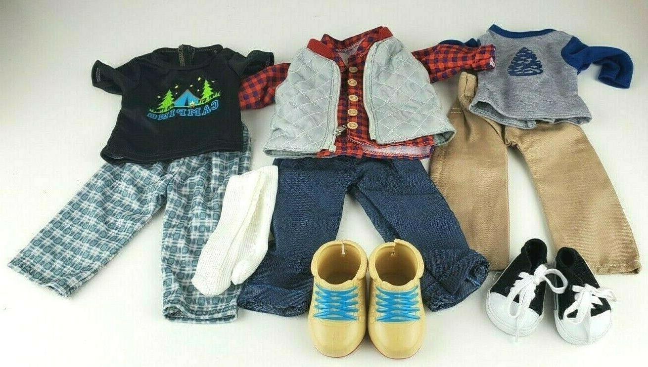 18 doll boy clothes lot of 3