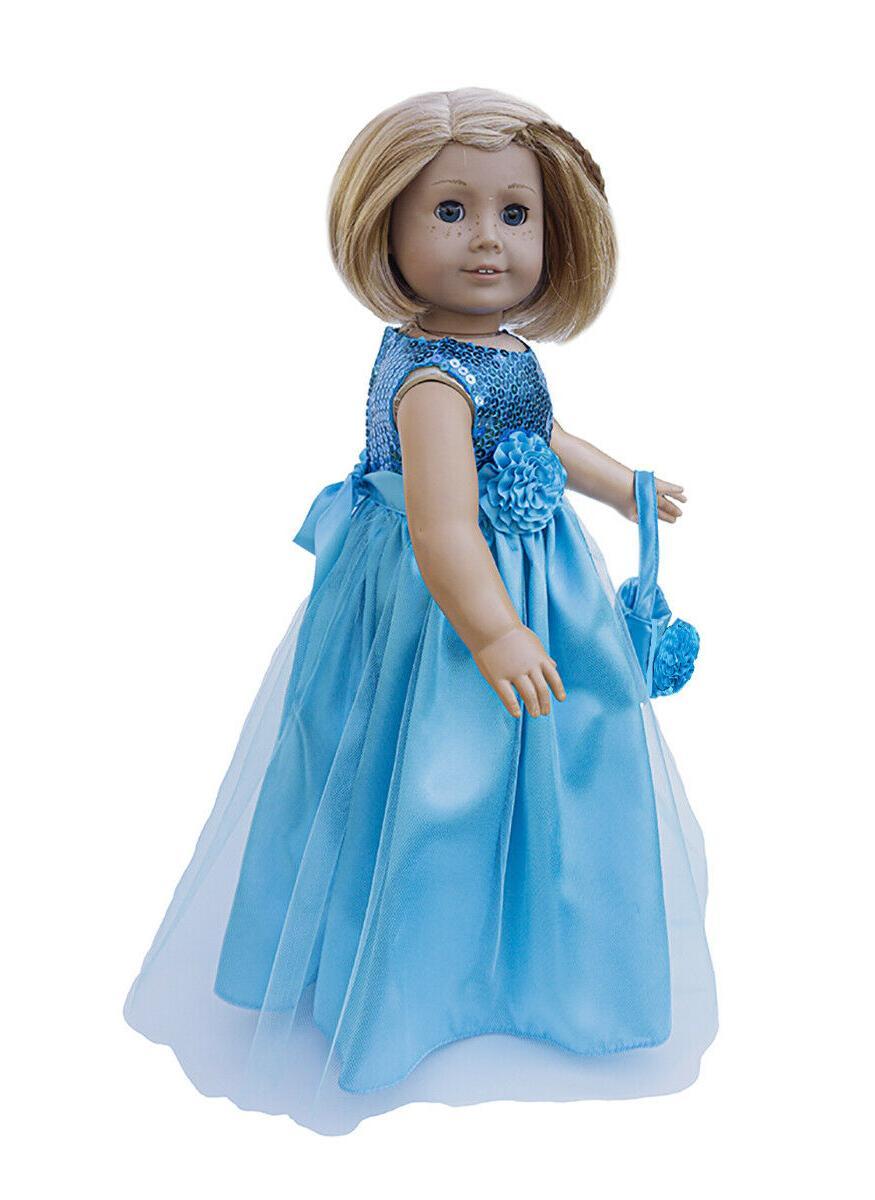 "18"" Doll princess Dress: incl- Ftis Dolls"