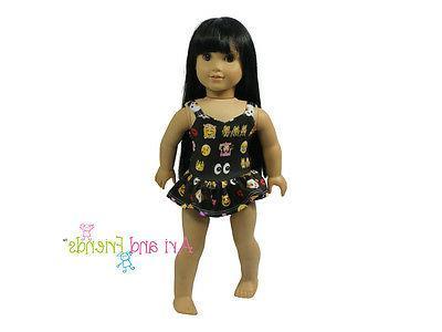 18 doll clothes emoji swimsuit bathing suit