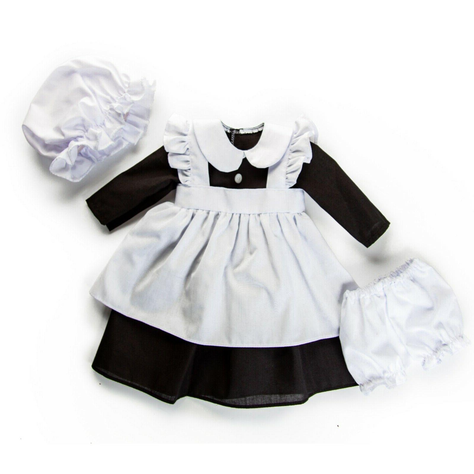 4 PIECE HISTORIC MAID OUTFIT Girl