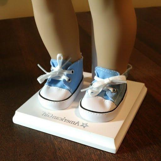 18 DOLL CLOTHES ~ ~ BLUE LOW CANVAS ~ SHOES ~NEW