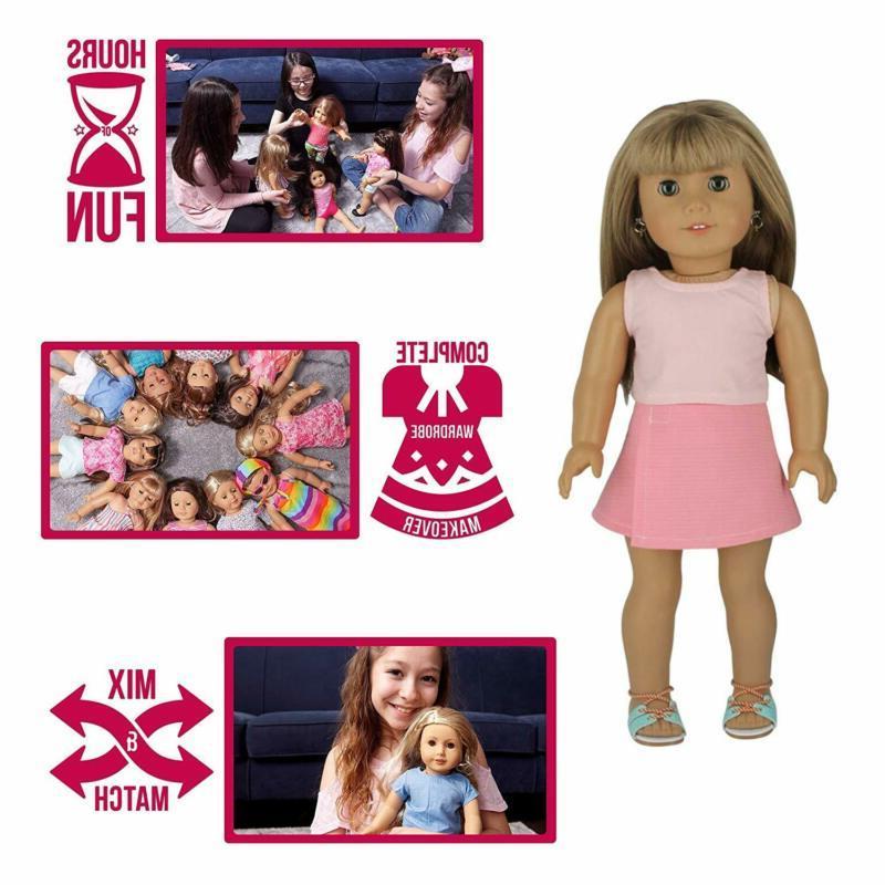 PZAS Doll Wardrobe 10 Outfits Girl
