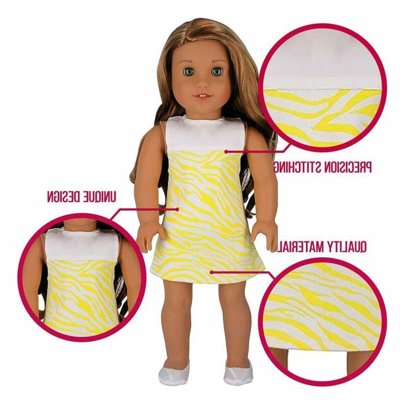 PZAS Doll Clothes Wardrobe 10 Fits American Girl