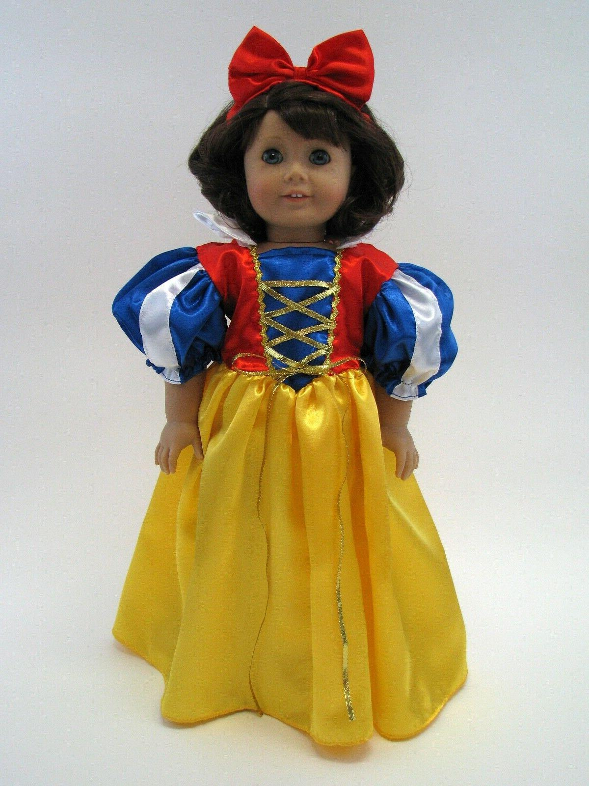 18 inch doll dress snow white inspired