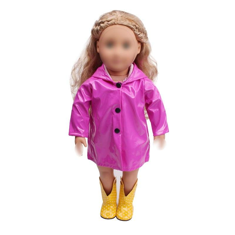 18 inch <font><b>clothes</b></font> waterproof raincoat coat <font><b>American</b></font> new born dress Baby 43 baby c539