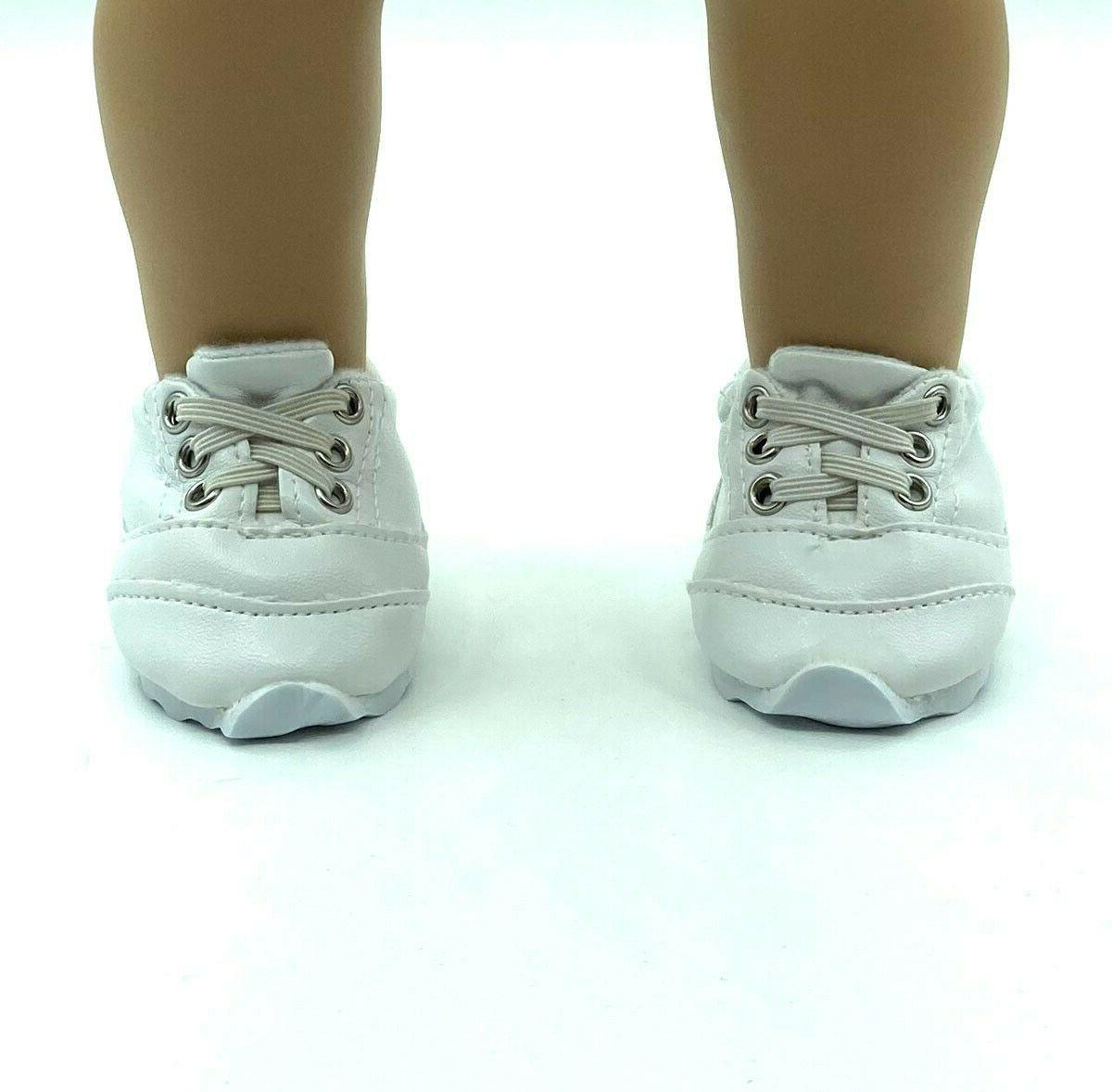 18 inch girl doll clothes shoes white