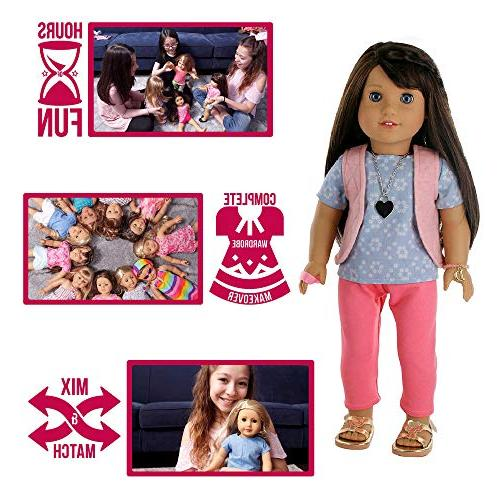 PZAS Toys 18 Set, American Girl and Other 18 Inch Doll Clothes