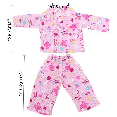 18'' Pink Rabbit Nightwear Doll Sleep Newborn Girl