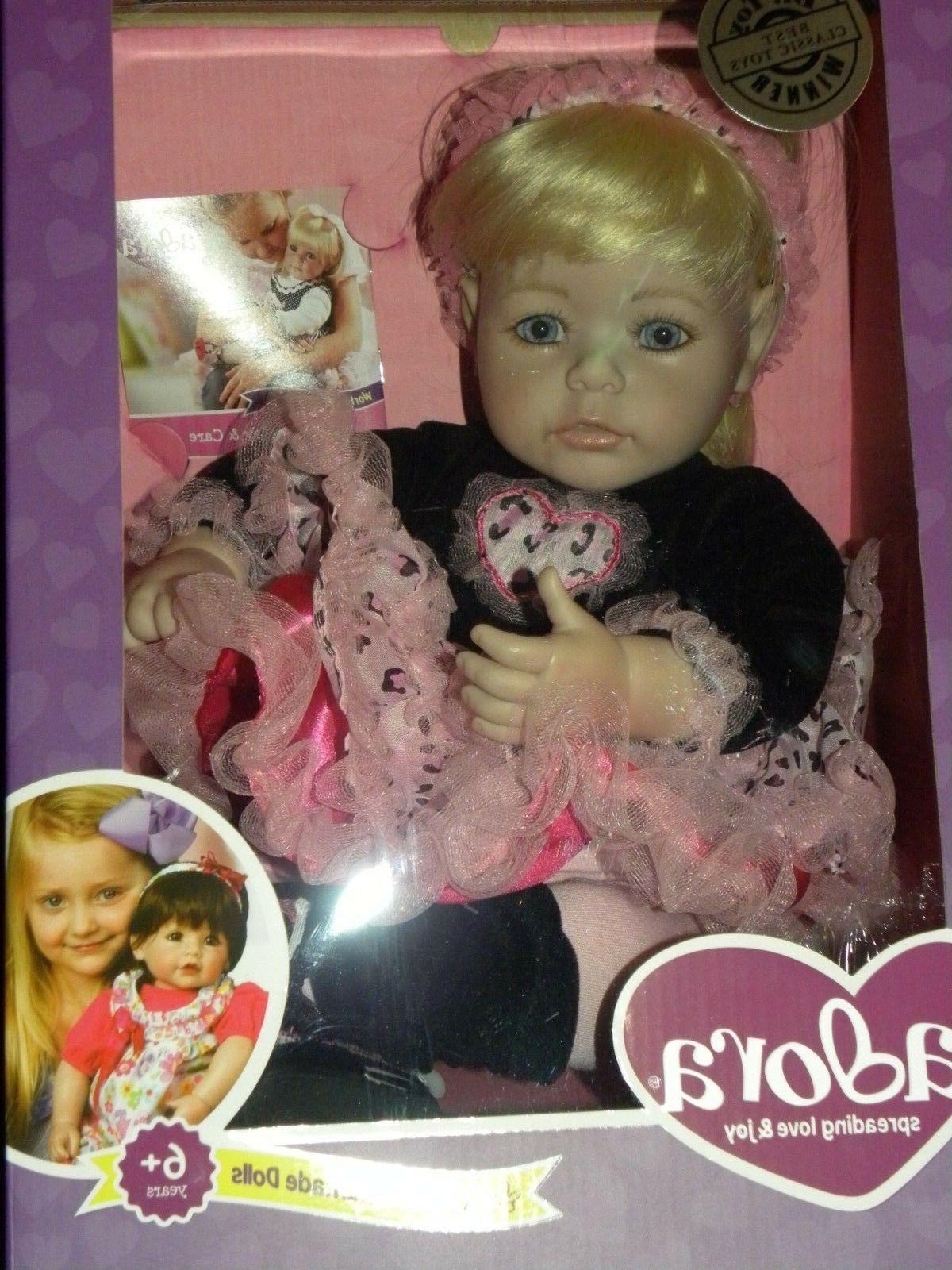 """Adora 20""""Ready To Rock Toddler Doll Blonde hair Blue eyes vi"""