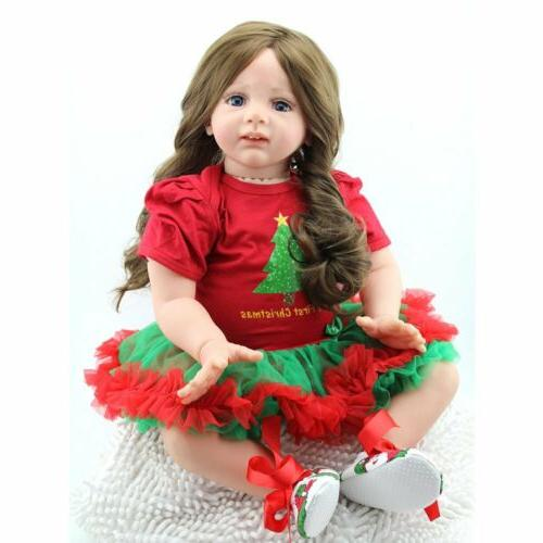 "24""Toddler Reborn Baby Doll Realistic Vinyl Silicone Newborn"