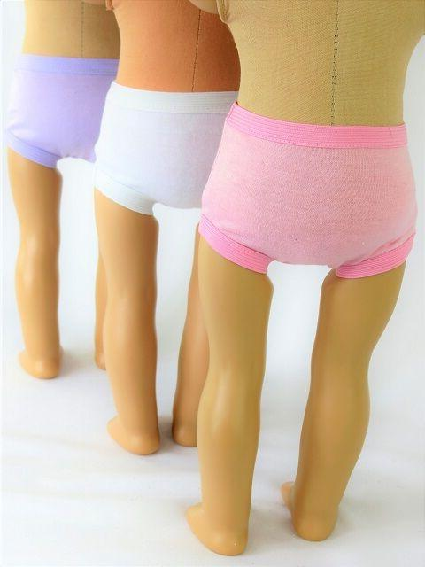 3 underwear Fits Doll Clothes
