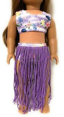 3 pc Hula Swimsuit Set fits Doll Clothes