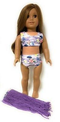 3 pc Hawaiian Hula Swimsuit Set fits 18 inch Doll