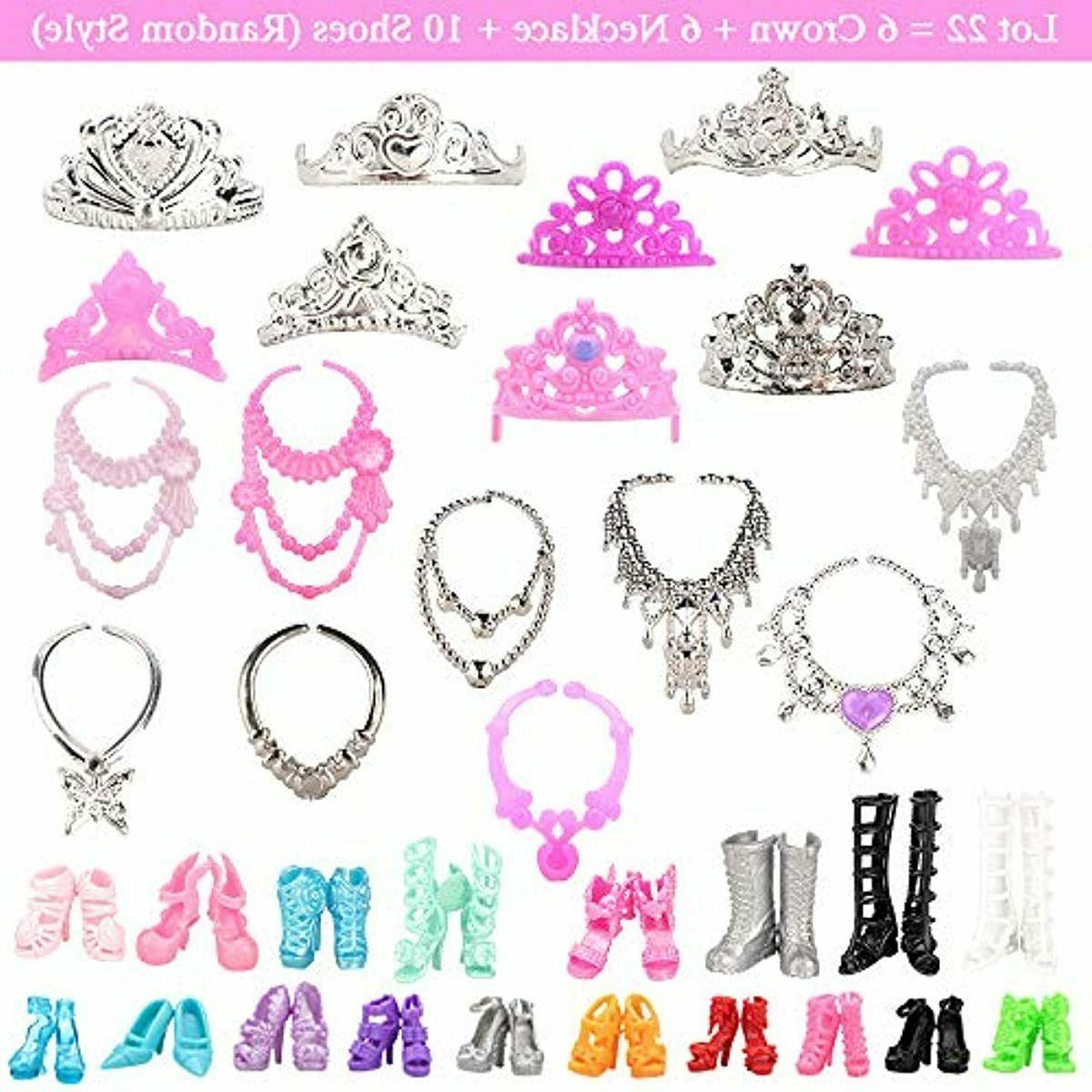 BARWA Barbi Doll and 10 pcs Party 22 Shoe