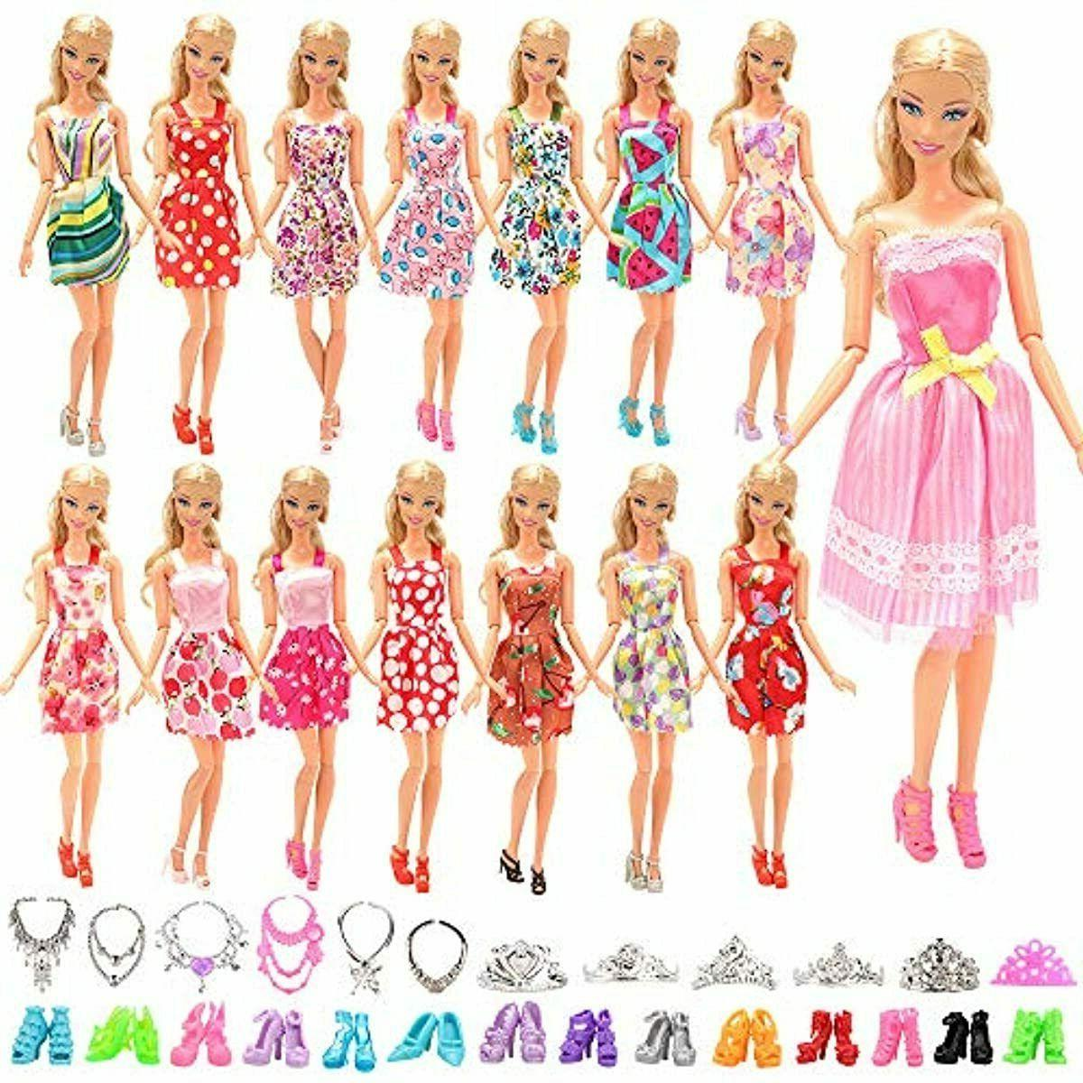 BARWA 32 Clothes Accessories 10 pcs Party Dresses pcs Shoes,