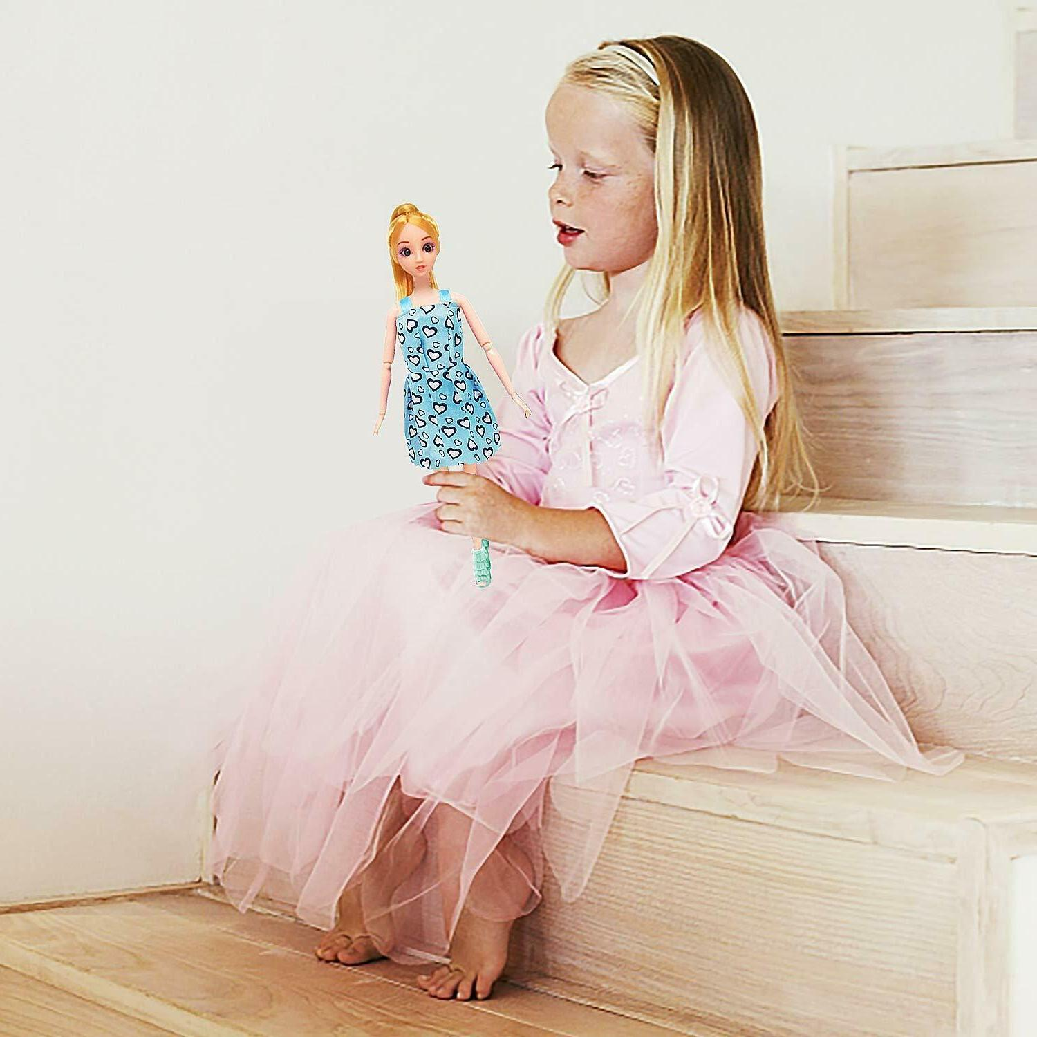 36PCS Doll & Doll Gown Outfit Accessories Gift