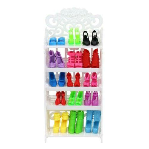BARWA 40 Pairs Shoes Different Boots Accessories for...