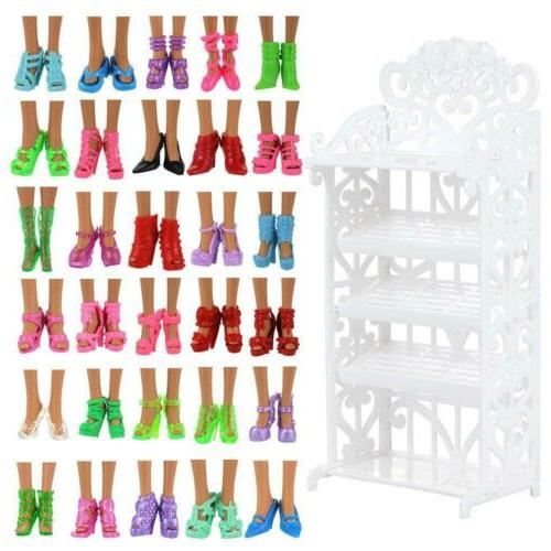 BARWA Pairs Shoes Different High Accessories Shelf
