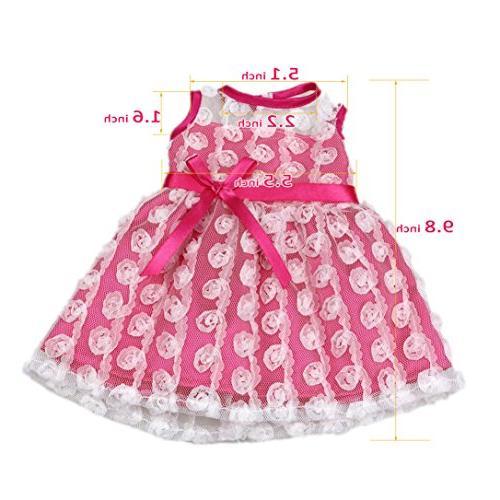 "AOFUL Baby Doll Fashion Bunny Pink Pajamas Romper Skirt 16-18"" inch American Dolls"