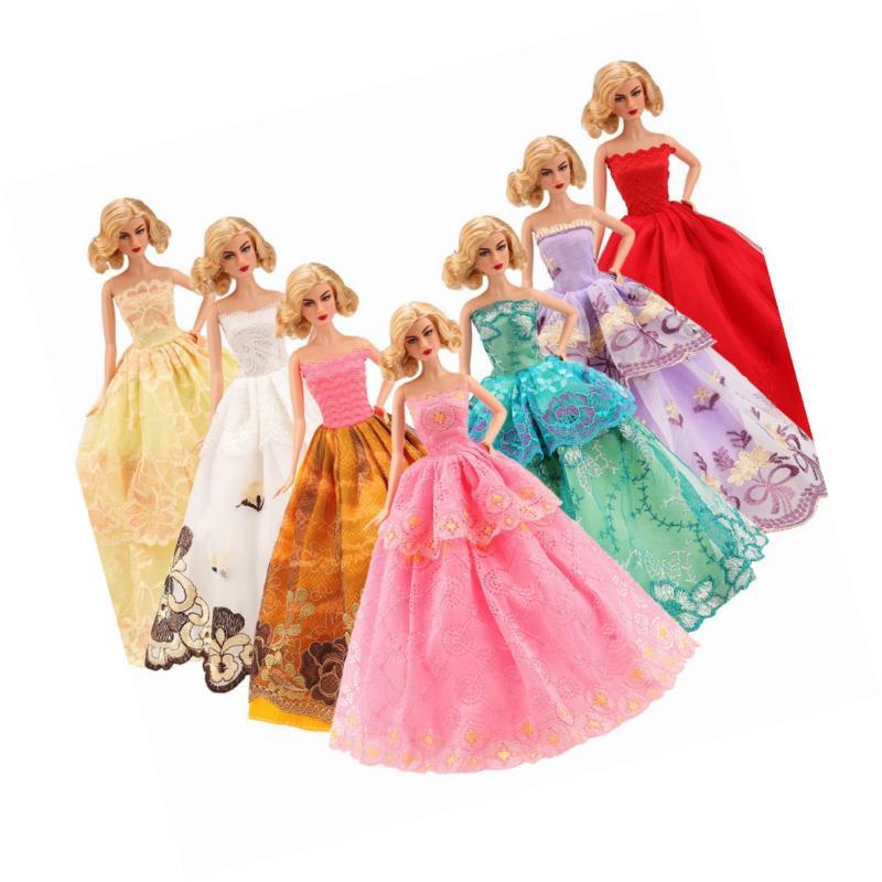 BARWA 5 Pcs Doll Wedding Party Dresses 11.5 inch