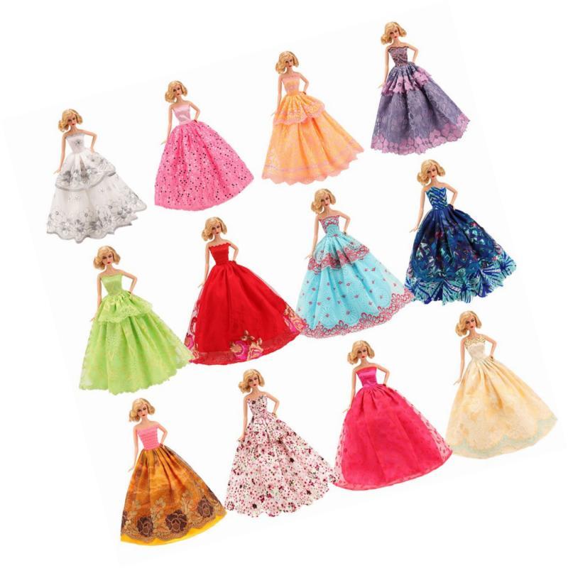 BARWA 5 Handmade Doll Wedding Party Dresses for inch Doll