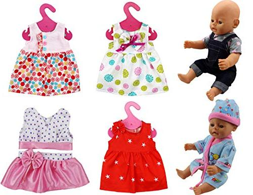 6 sets doll outfits dresses