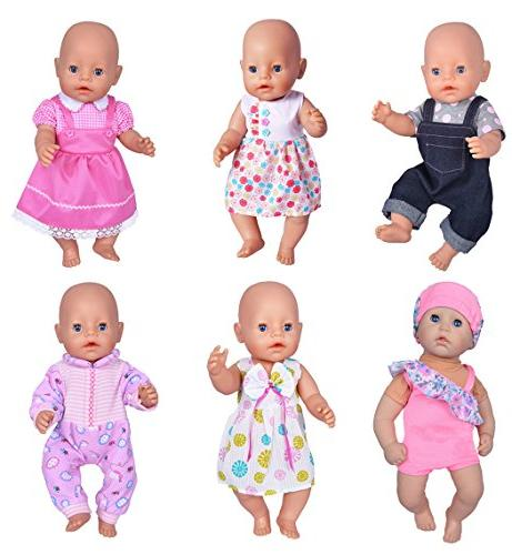 ebuddy 6 Doll Clothes Outfits to for Inch Girl