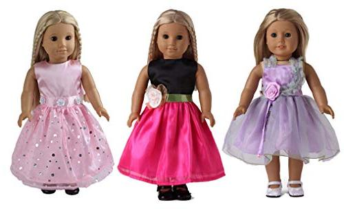 sweet dolly 7 Dresses Doll Clothes Inch Doll Doll