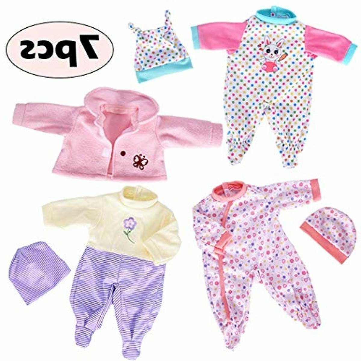 7 Pcs Clothes with Hat and Coat for New Bitty