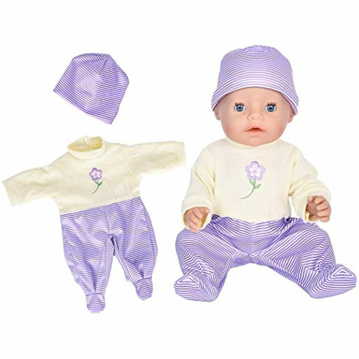 7 with Hat for 43cm Born Baby Dolls/ 15 inch Bitty