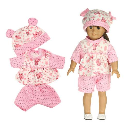 7 Sets Doll Reborn Toy Clothing Girl Doll