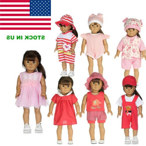 7 sets baby american doll clothes reborn